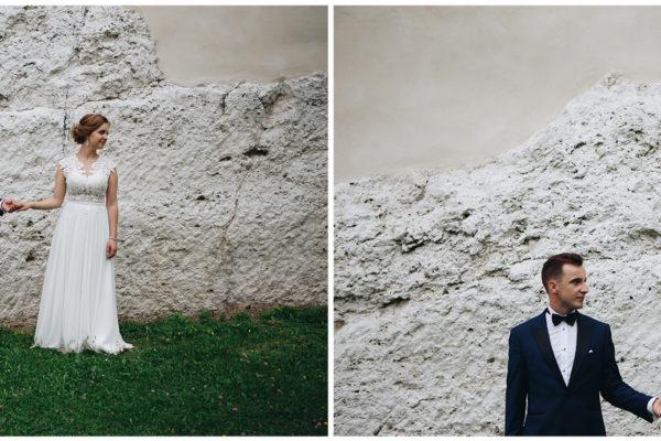 para młoda pieskowa skała zamek sesja ślubna